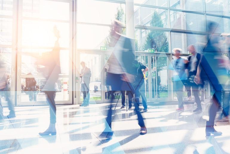 espacio de trabajo flexible y conectado